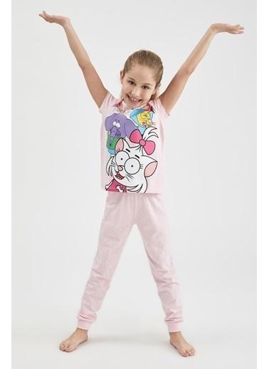 DeFacto Kız Çocuk Kral Şakir Lisanslı Kısa Kol Pijama Takımı Pembe